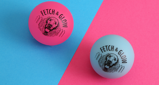 7. The Fetch & Glow ball lights up so you can play at night without losing it in the dark.